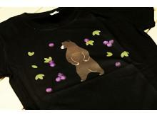 Koszulka niedźwiedź, damska, czarna