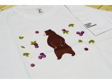Koszulka niedźwiedź, dziecięca, biała